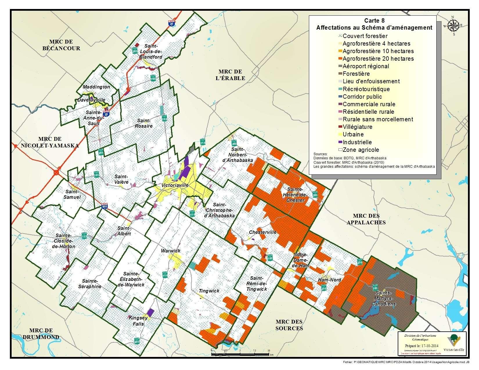 Carte 8 de 23 - Affectations au Schéma d'aménagement