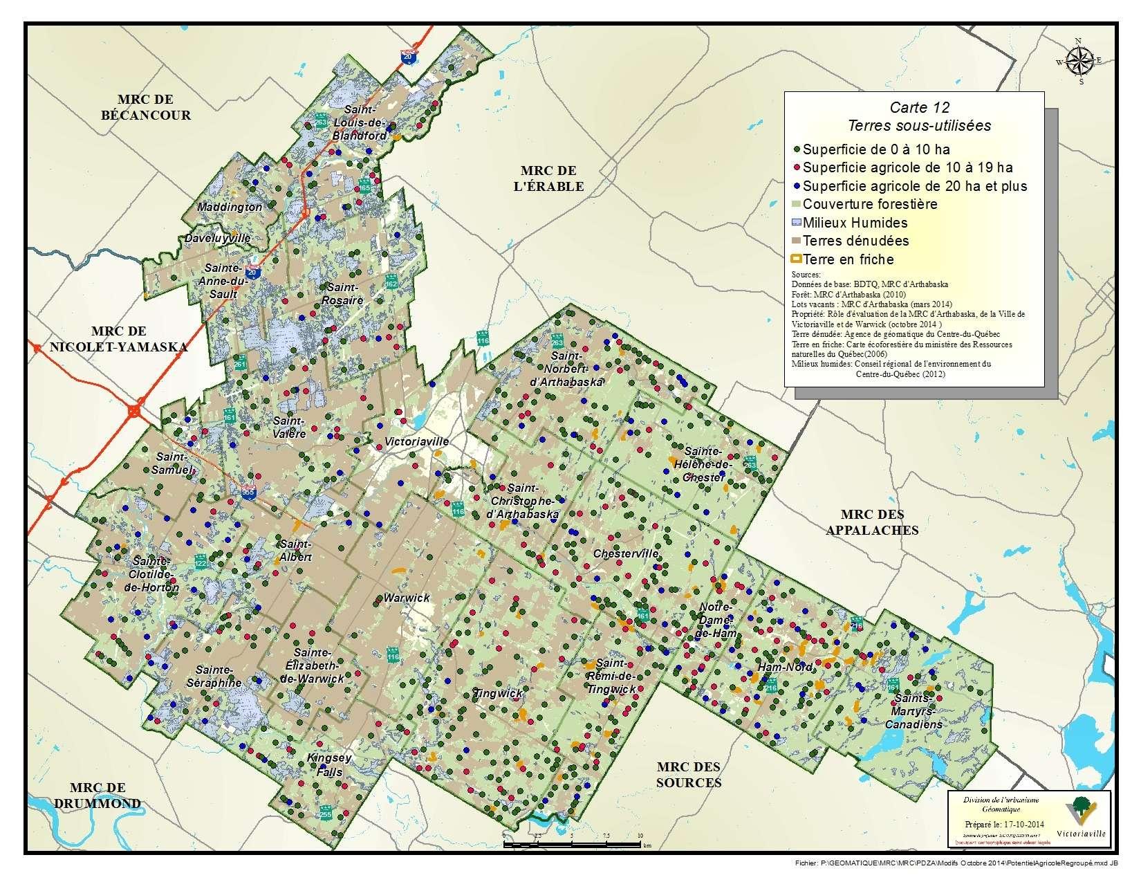 Carte 12 de 23 - Terres sous-utilisées