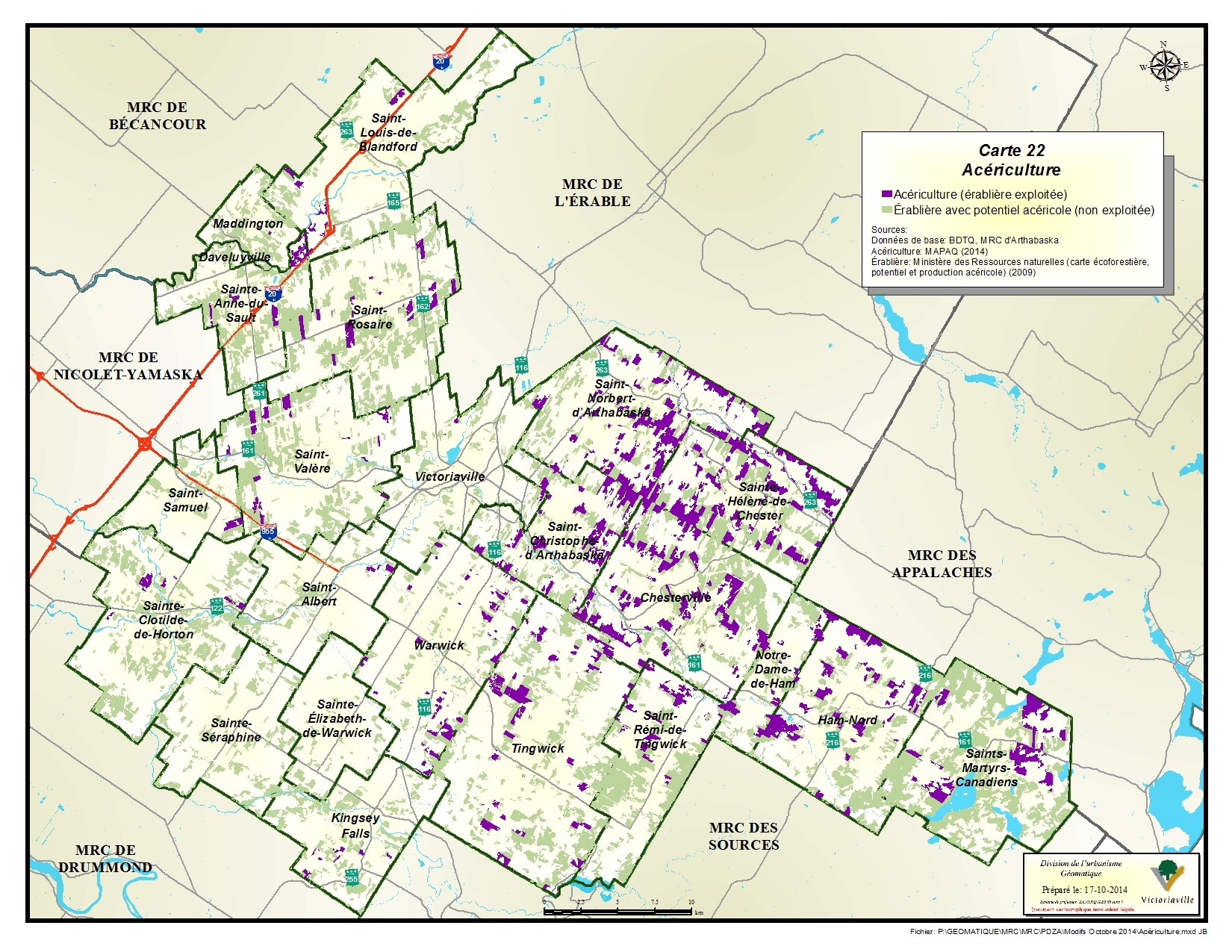 Carte 22 de 23 - Acériculture