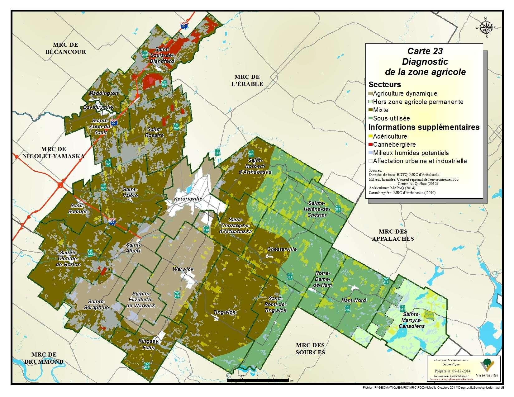 Carte 23 de 23 - Diagnostic de la zone agricole